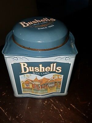 Bushells Blue Label Tea Tin  Country Buildings Hotel