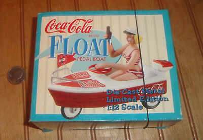 Coca Cola Coke Girl with Coke on Kiddie Car Boat Xonex Diecast 1997 NIB