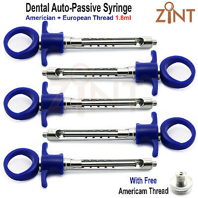 5 Pieces Dental Anesthetic Syringes 1.8ml Self-Aspirating Anesthesia Injections
