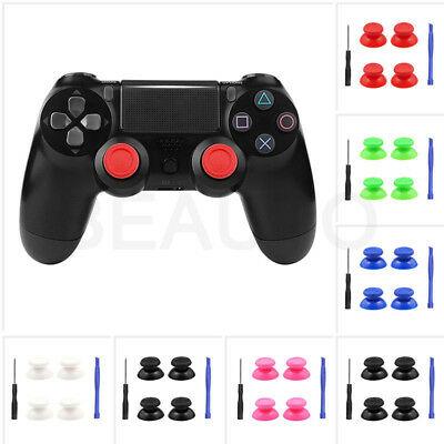 4X Replacement Analog Thumbsticks Thumb Stick for PS4 Slim Pro Controller