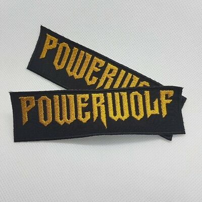 Powerwolf logo embroidered sew on metal patch