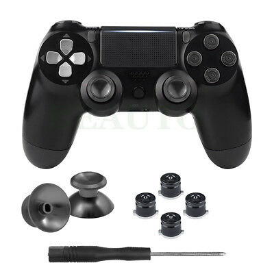Black Metal Bullet Buttons Thumbsticks Thumb Stick For PS4 Slim Pro Controller