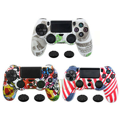 for PlayStation 4 PS4 Controller Silicone Grip Cover Case Skin +2 Joystick Cap