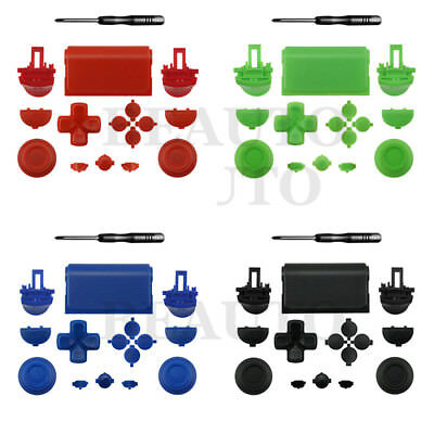 Replacement Custom Solid Button ABXY Dpad Thumbstick for PS4 Slim Pro Controller
