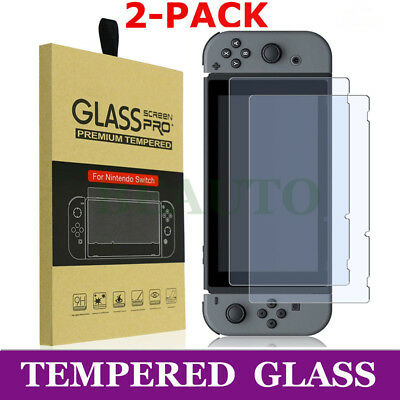 2X For Nintendo Switch amFilm Premium Tempered Glass Glasses Screen Protector