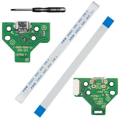 USB Charging Port Board 12 pin cable JDS-011 for PS4  Dualshock 4 Controller