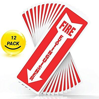 """Fire Extinguisher Sign Sticker, Safety Signs - Set of 12, 4"""" X 12"""" 5 Mil Thick"""