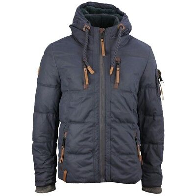 NAKETANO HERREN WINTER Jacke marine blau Unifarben Italo Pop