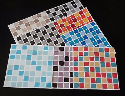 10 x Bathroom /Kitchen Wall Tile Mosaic Self Adhesive Stickers/Transfers,decals