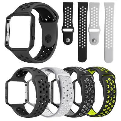 Replacement Silicone Wrist Band Watch Strap + Metal Frame For Fitbit Blaze Watch
