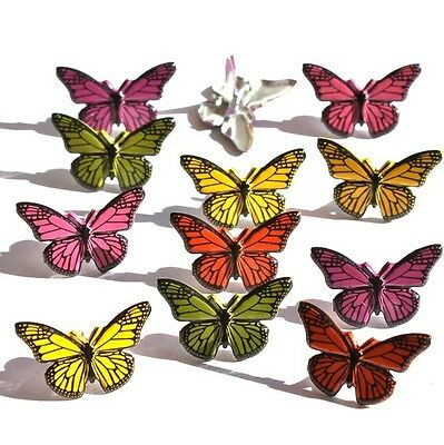 Brads - Bulk - Butterfly bug insect girl - pk of 15 - scrapbooking
