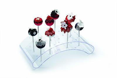 Kitchen Craft Sweetly Does It 29cm Acrylic Cake Pop Stand 24 Transparent New UK