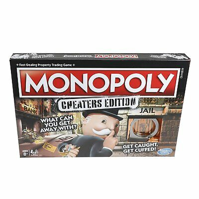 Hasbro Gaming Monopoly Cheaters Edition Family Board Game *BRAND NEW*