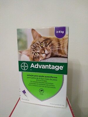 ADVANTAGE¹ 80 anti puces chat/cat de 4 a 8 kg Fleas Treatments boite 4 pipettes