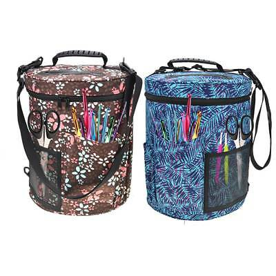 Yarn Storage Bag Organizer Knitting Holder Crochet Travel Tote Gift w/ Strap AU