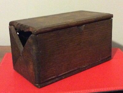 Antique Wood Singer Sewing Puzzle Box - Patented February 19 1889 - Dark Oak