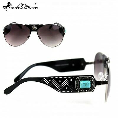 5f9ca41b359c MONTANA WEST CONCHO Collection Sunglasses Aviator Bling Bling ...