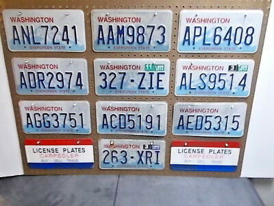 10-Washington State Craft License Plate's.#-3496. Shabby Chic. Poor Or Better.