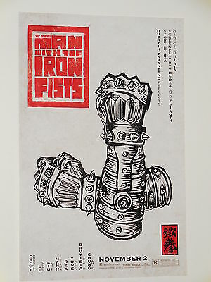 THE MAN WITH THE IRON FISTS - Movie Poster - Flyer (B) - 11x17 - RUSSELL CROWE