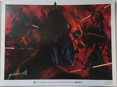 SDCC Comic Con 2018 EXCL Sideshow DARTH MAUL signed print by Walter O' Neal
