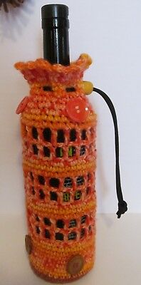 Wine Water Crocheted Bottle Cozy