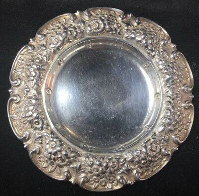 Tiffany Sterling Silver Repousse Pin Tray Dish