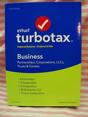 Turbotax Business 2017 New Sealed Fed + E-file For Windows Genuine Clean New