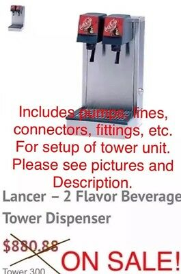 Lancer Two Valve Fountain Drink Tower With Power Supply And Drain Hose