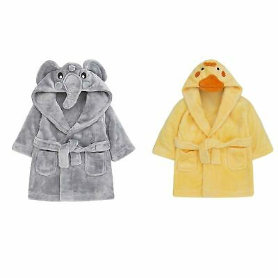 Duck Elephant Baby Dressing Gown Bath Robe House Coat Toddler 3d Cute Animal