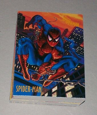 SET: Marvel Spiderman 1997 Fleer 1-50