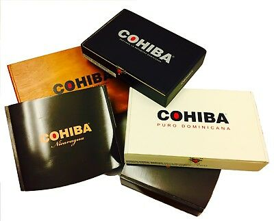 Cohiba Empty Cigar Boxes - Set of 4, Different Colors! No Cigars Included