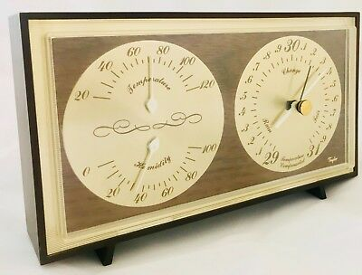 Vintage Taylor Instrument Barometer Thermometer Humidity Desktop - Free Shipping