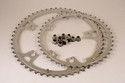 Chainring and screws Gipiemme 144 BCD 52 42 T bicycle vintage eroica road bike