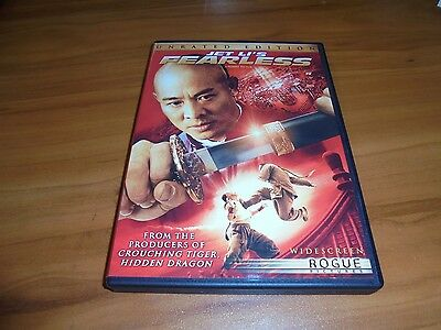 Fearless (DVD, 2006, Unrated Widescreen) Jet Li, Sun Li, Nakamura Shidou Used