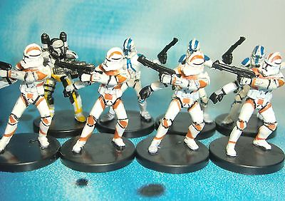 Star Wars Miniatures Lot  Clone Trooper Republic Commando Scorch !!  s97