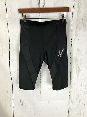 CW-X Womens Pro Shorts Black Large $80 Conditioning Wear Cool Max Lycra NEW
