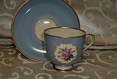 Furstenberg Germany Sweet Blue Demitasse Cup & Saucer In Blue FREE SHIPPING