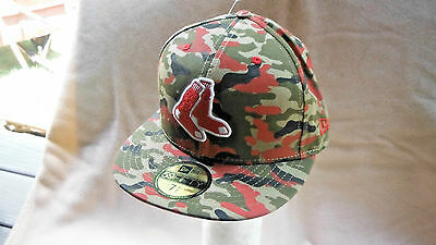 Brand New Boston Red Sox 59/fifty Size 7.5  Mlb Baseball Embroidered/camo Cap!