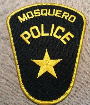 NM Mosquero New Mexico Police Patch