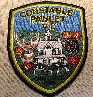 VT Pawlet Vermont Constable Patch