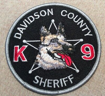 TN Davidson County Tennessee K9 Sheriff Patch