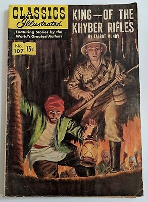 Classics Illustrated 107 King of the Khyber Rifles HRN146 1953 3rd Printing