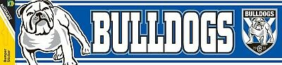 Official NRL Canterbury Bulldogs Team Logo Car Bumper Sticker