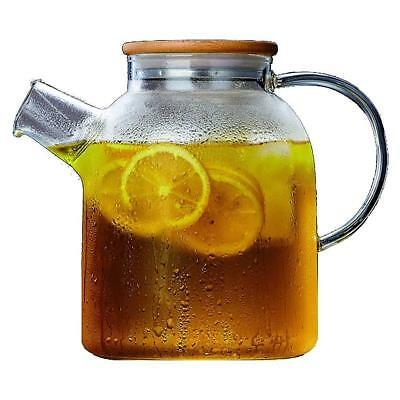 60 Oz Large Glass Water Pitcher, a Perfect Flower Teapot and Iced Tea Maker