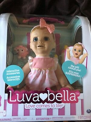 Luvabella Blonde Interactive Doll - Ready to post! Christmas Toy