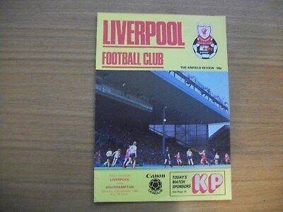 Liverpool v Southampton Programme Division 1,12th October 1985