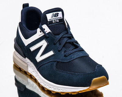 online store 98c28 6bb54 NEW BALANCE 574 Sport Men New Indigo White Casual Lifestyle Sneakers  MS574-FCN