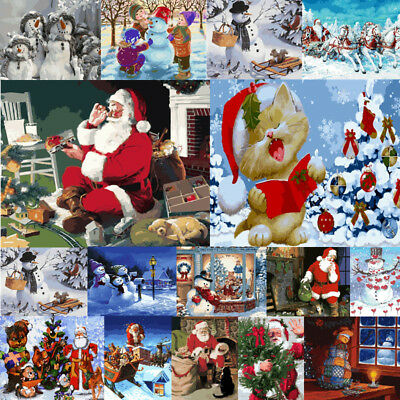 Oil Acrylic Paint By Number Kit Kids DIY Home Decor Christmas Halloween Gift