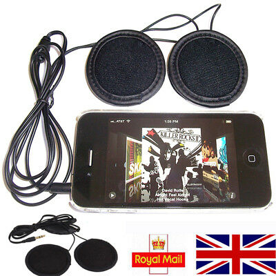 Stereo Motorcycle In-helmet Speaker 3.5mm Headphone Earphone Volume Control New