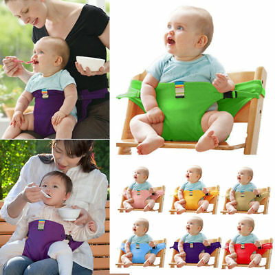 Portable Baby Travel High Chair Booster Safety Seat Strap Harness Belt For Kids